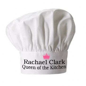 Personalised Queen of the Kitchen Chef Hat